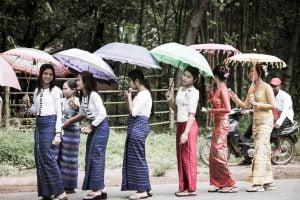 The road to Kyaikto Myanmar