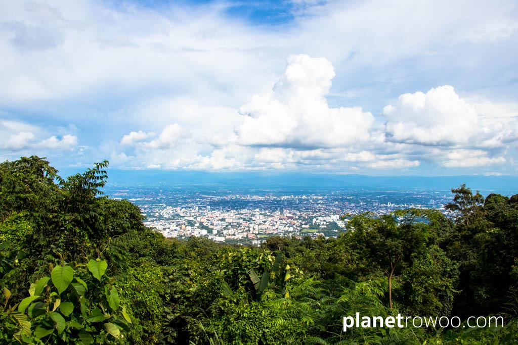 View of Chiang Mai city from Doi Suthep mountain