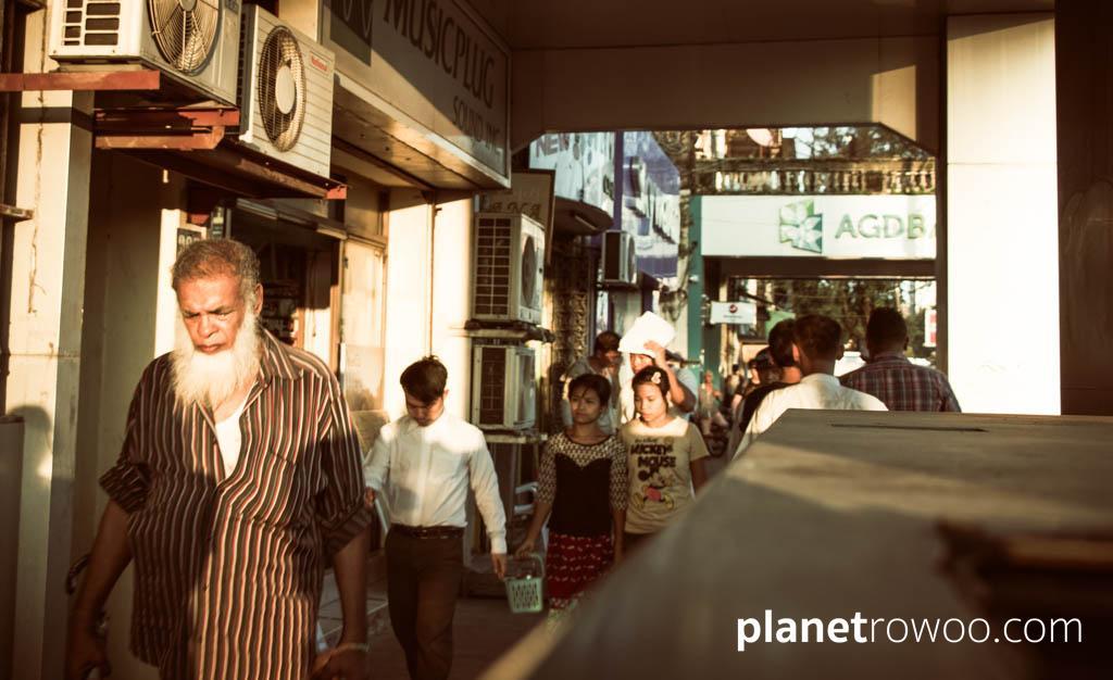 Downtown Yangon - Street Scene