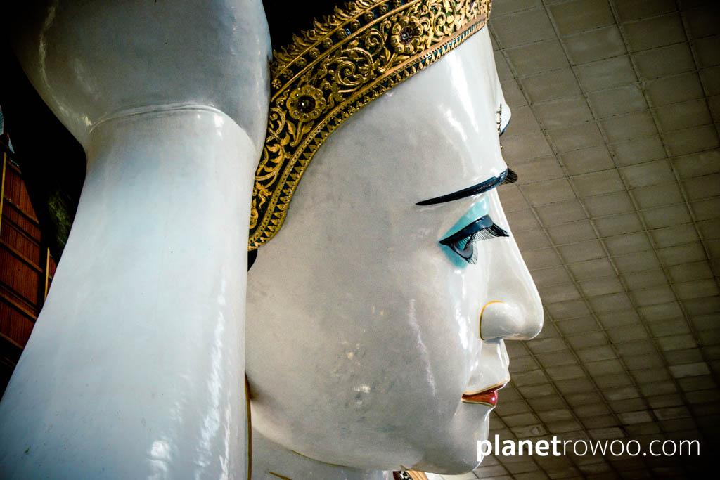 The Reclining Buddha at the Kyaukhtatgyi Pagoda, Yangon