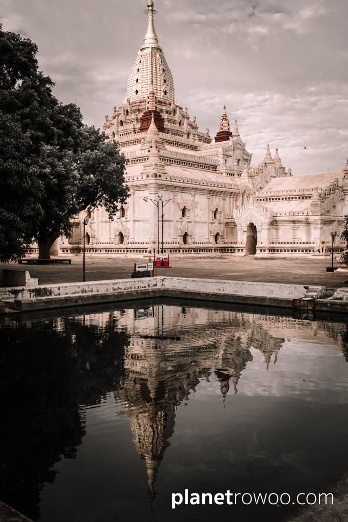 The Ananda temple, reflected