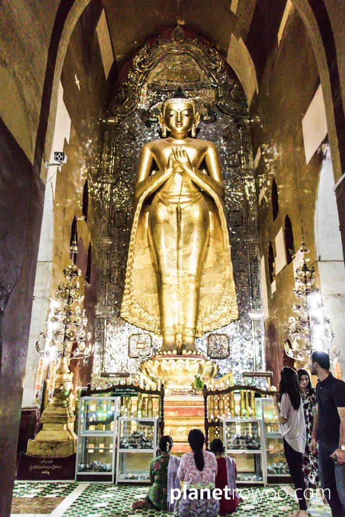 Standing Kakusandha Buddha at Ananda temple, Bagan