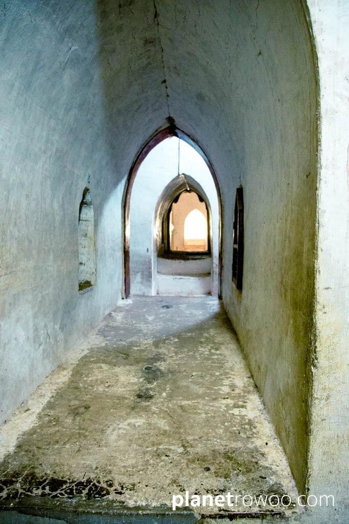 Ananda temple interior corridor