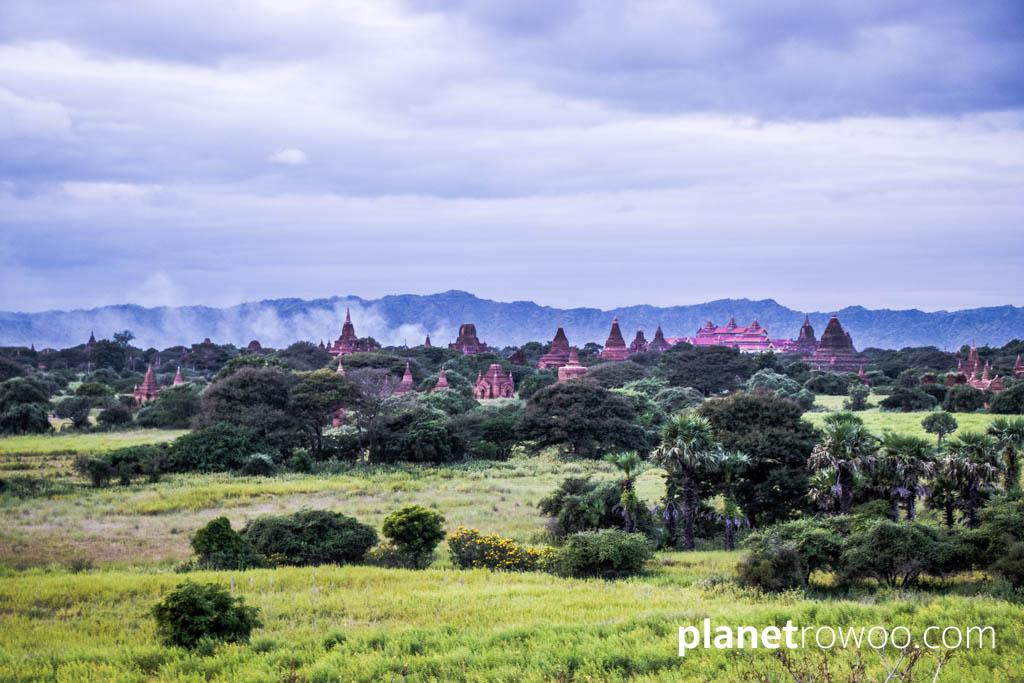 View across the Bagan plains from Taung Guni