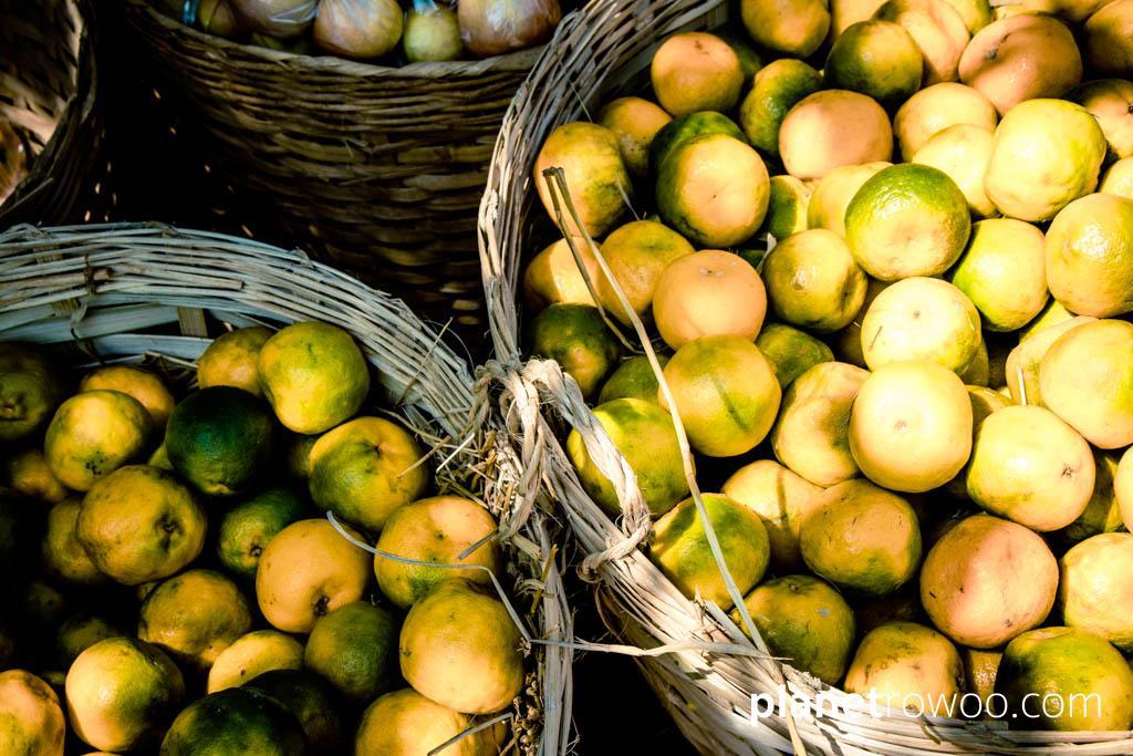 Locally grown oranges, at Kalaw's market, Myanmar