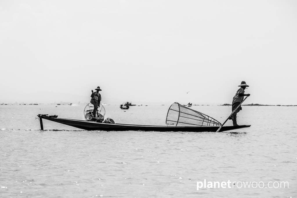 The legendary Intha fishermen, Inle Lake