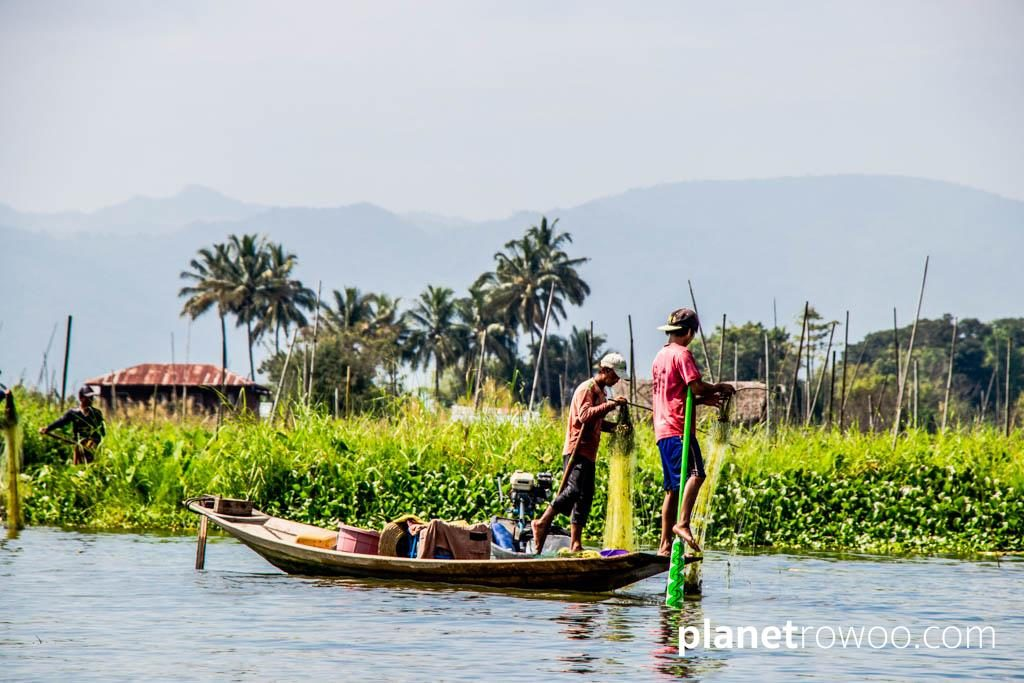 Inle Lake fishermen, floating gardens and the Shan hills