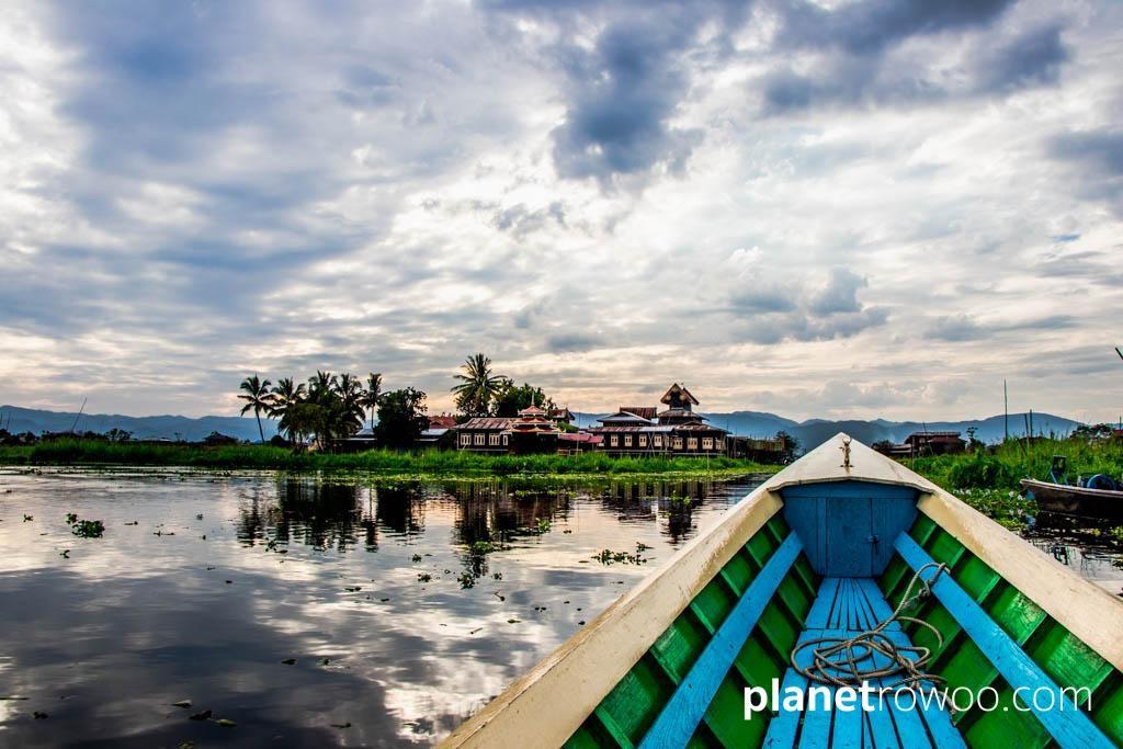 Approaching Nga Phe Kyaung Monastery, Inle Lake