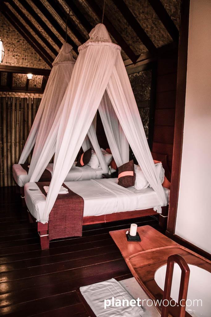 Comfy beds in my room, Pristine Lotus Resort