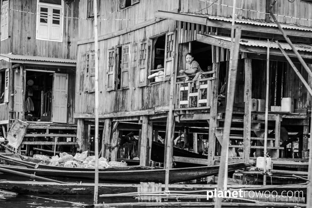 An Inle Lake villager looks on