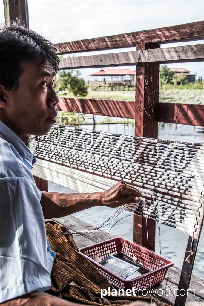 Inpawkhone weaving village, Inle Lake