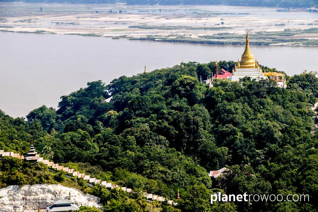 View across Sagaing Hill to the Irrawaddy River
