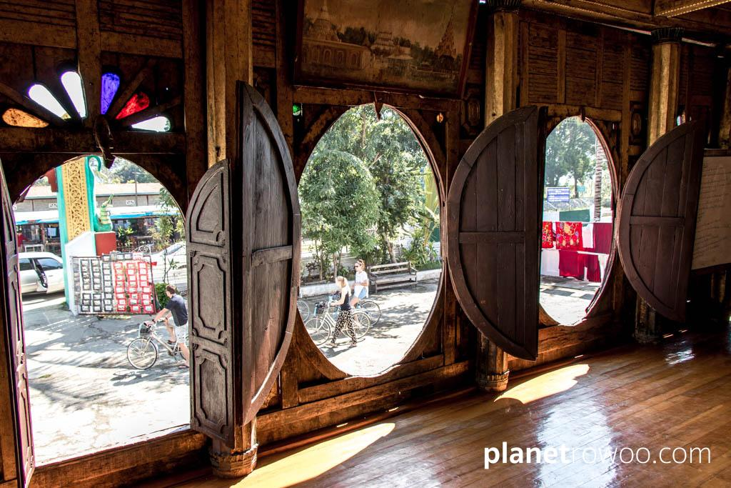 The oval windows of Shwe Yan Pyay Monastery