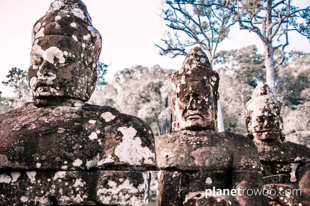 Hindu Devas lining the causeway entrances to Angkor Thom
