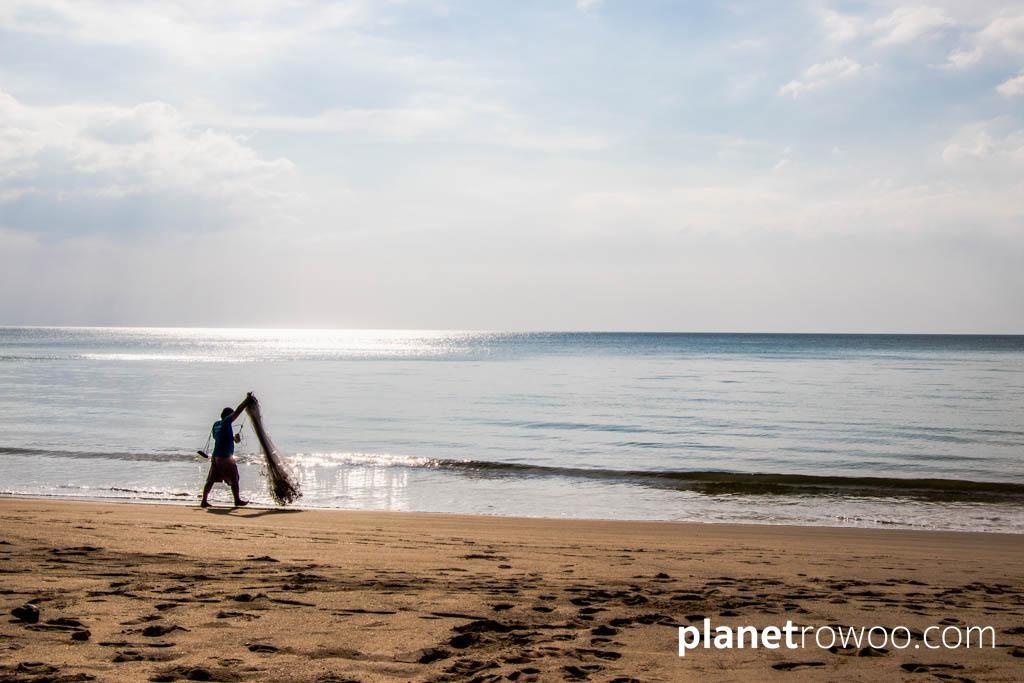 Fisherman on Bangsak Beach