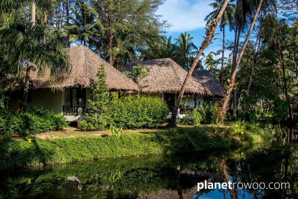 Haadson Resort Villas overlooking the natural saltwater lagoon