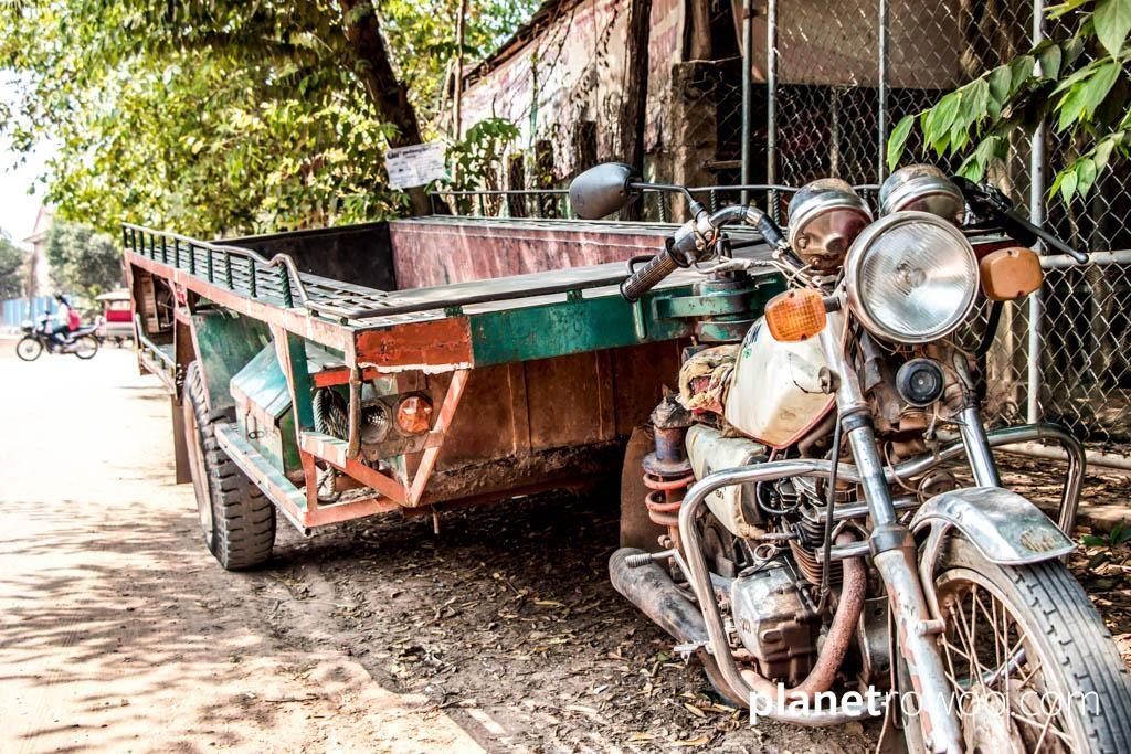 The Cambodian remork-moto