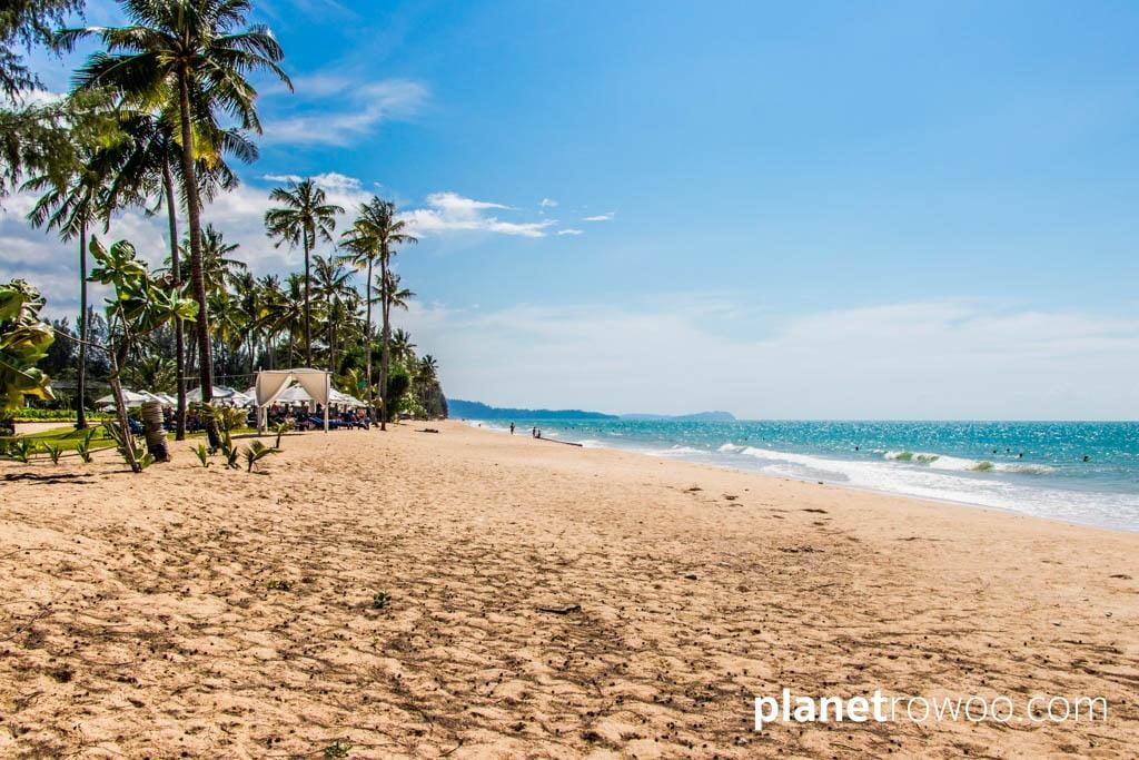 An idyllic stretch of Khuk Khak beach at the JW Marriott Khao Lak