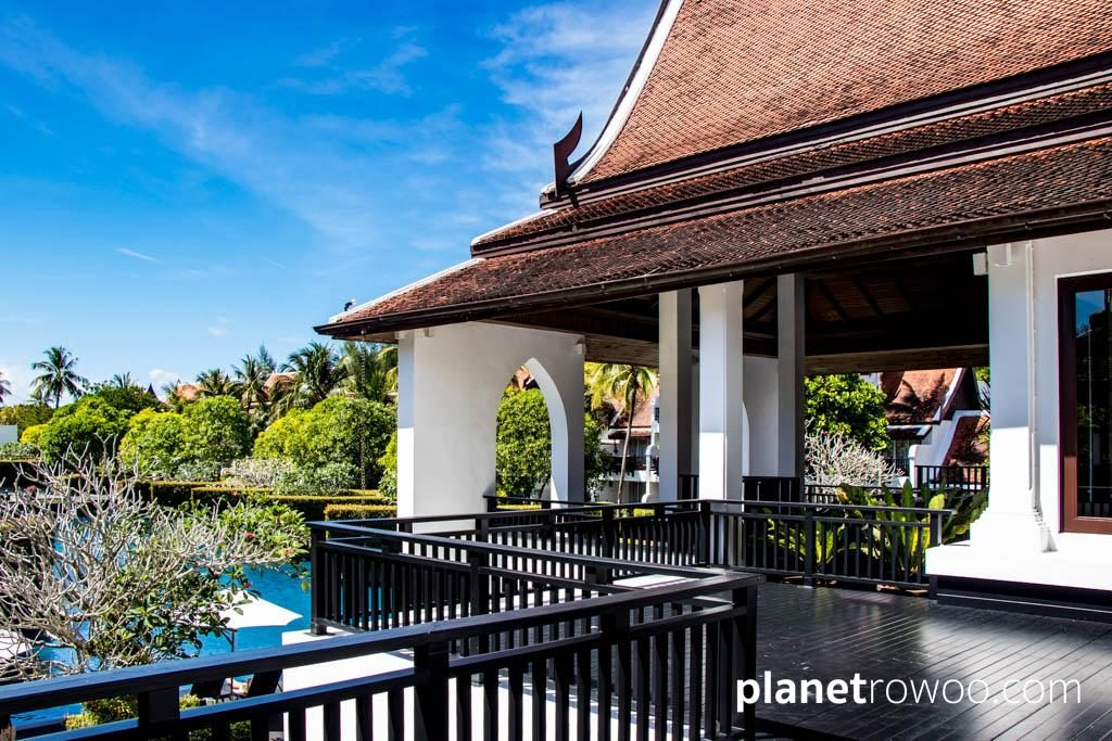 Typical Thai style red-roofed architecture throughout the JW Marriott Khao Lak