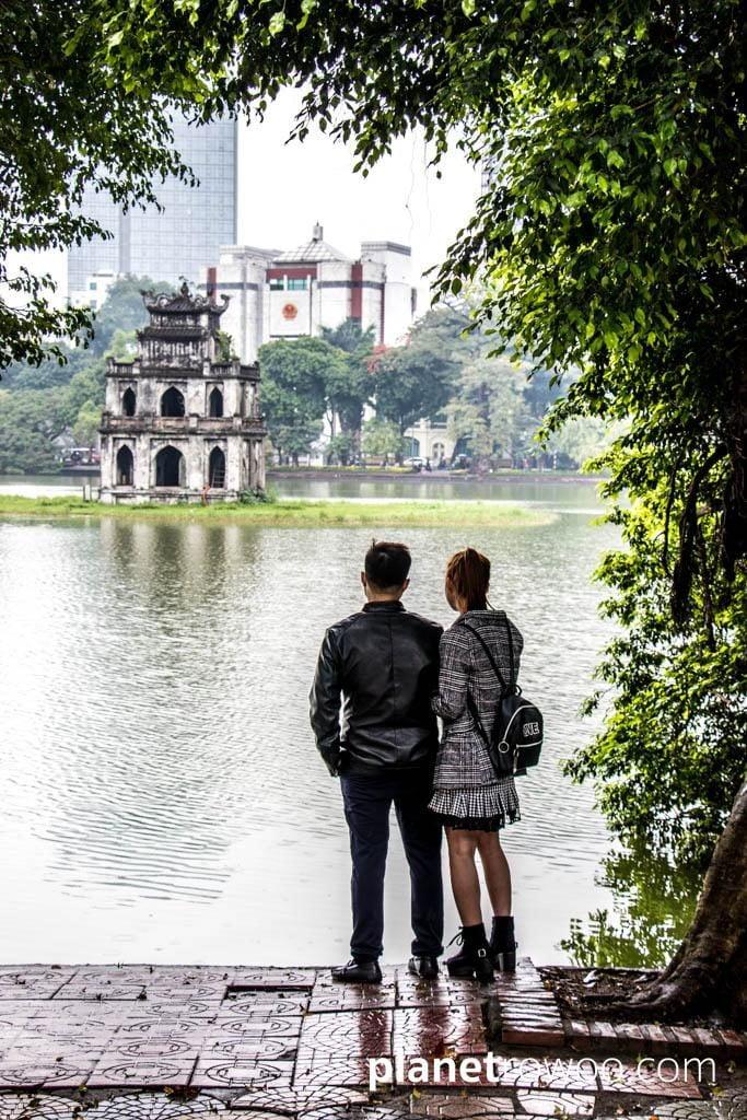Hoan Kiem Lake in Hanoi Old Quarter