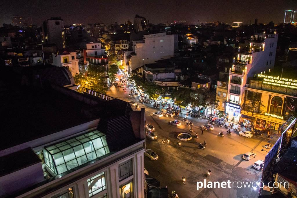 View from the rooftop bar at JM Marvel, Hanoi Trendy's sister hotel just a short walk away
