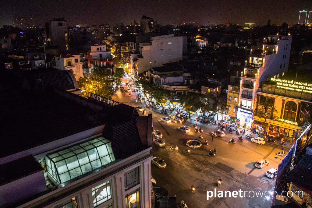 A view from the Rooftop Bar at JM Marvel Hotel in Hanoi