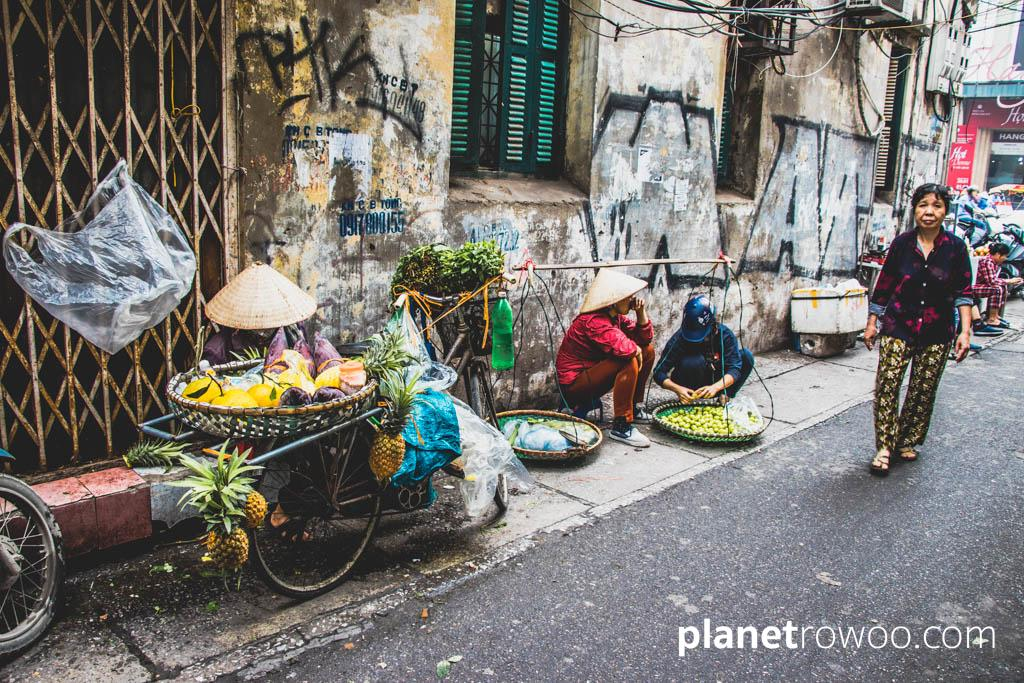 An alleyway in Hanoi Old Quarter