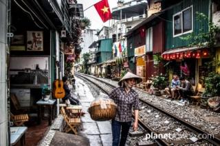 Hanoi Train Street, Vietnam