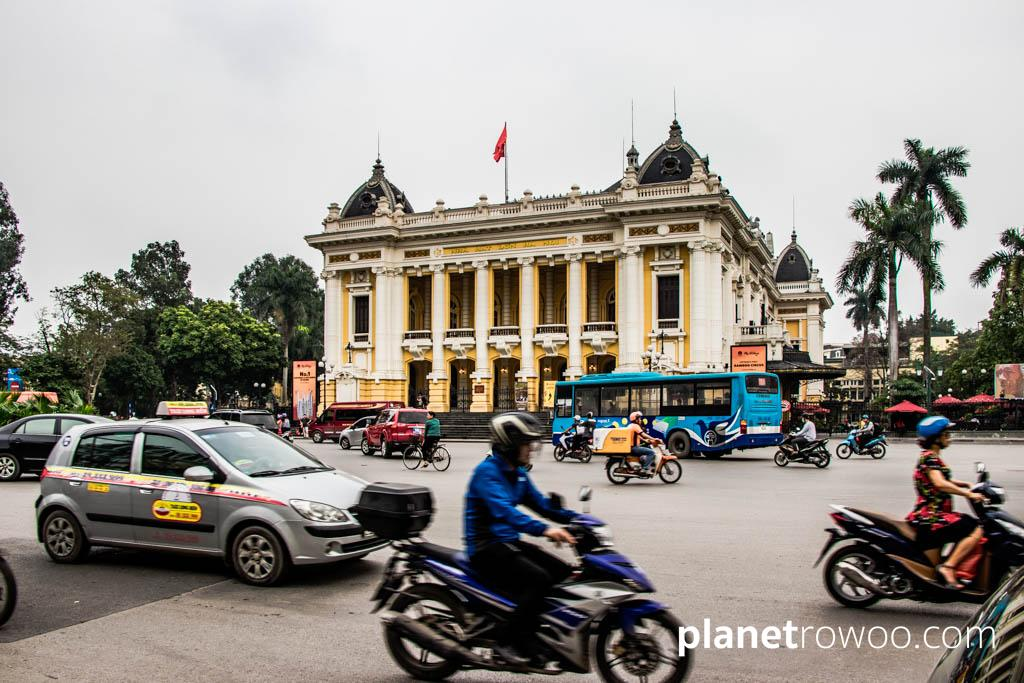 The Hanoi Opera House, in the heart of the French Quarter