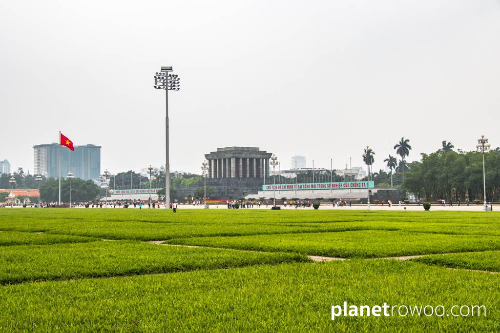 The view across Ba Dinh Square to the Ho Chi Minh Mausoleum