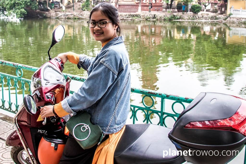 Lauren - my driver and guide for the Hanoi City Insight Motorbike Tour
