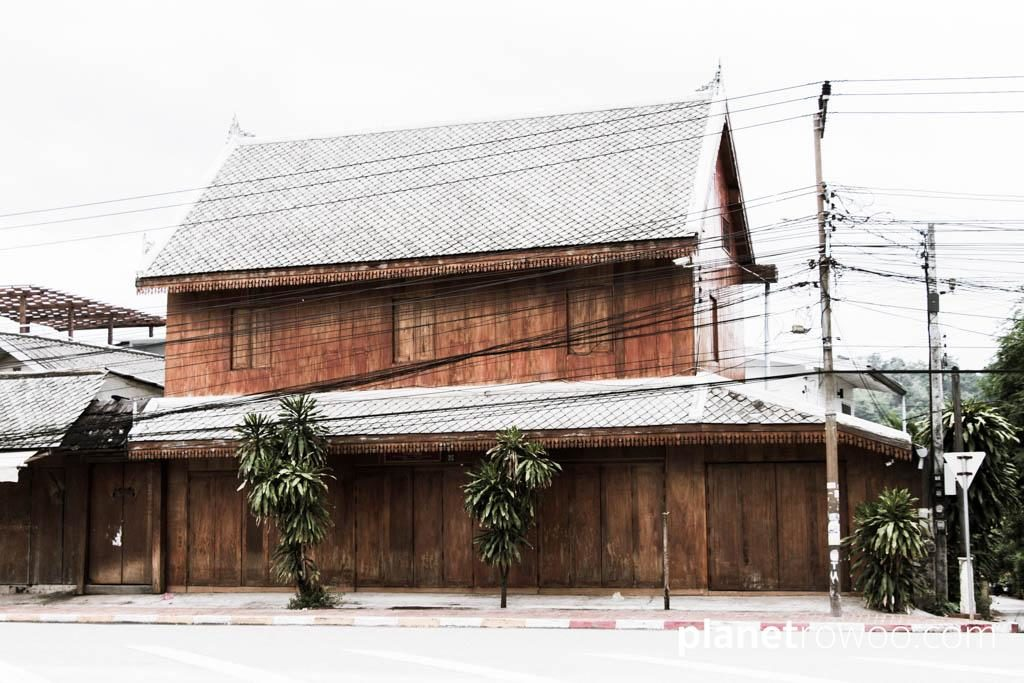 A traditional Laos wooden house in Luang Prabang