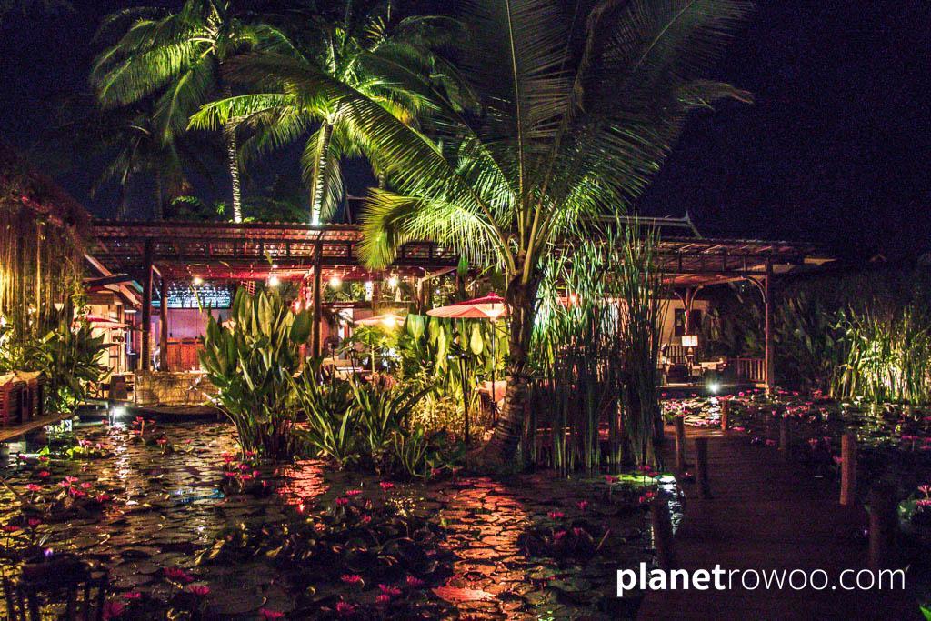 Manda de Laos, fairytale dining around a UNESCO classified lily pond