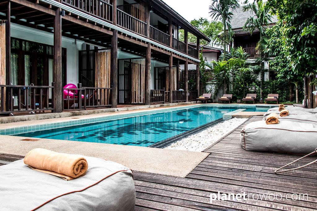 The elegantly designed pool at Maison Dalabua
