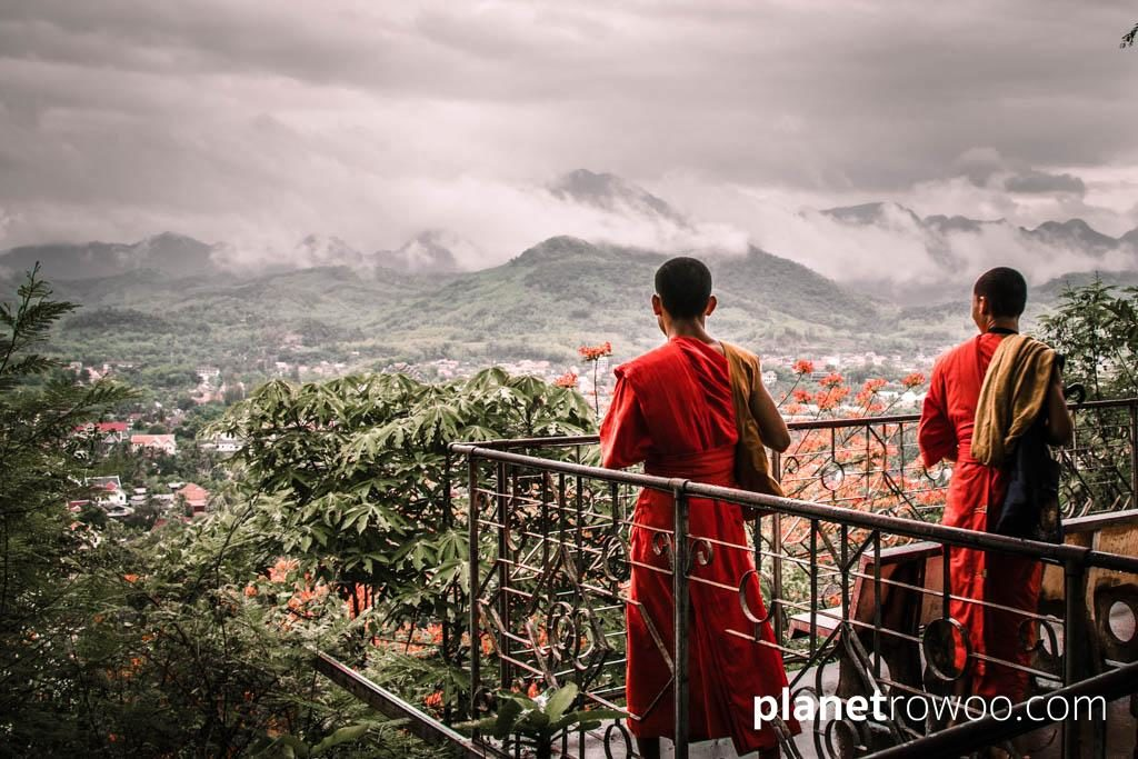 The spectacular view across the Luang Prabang mountain range from Phousi Hill