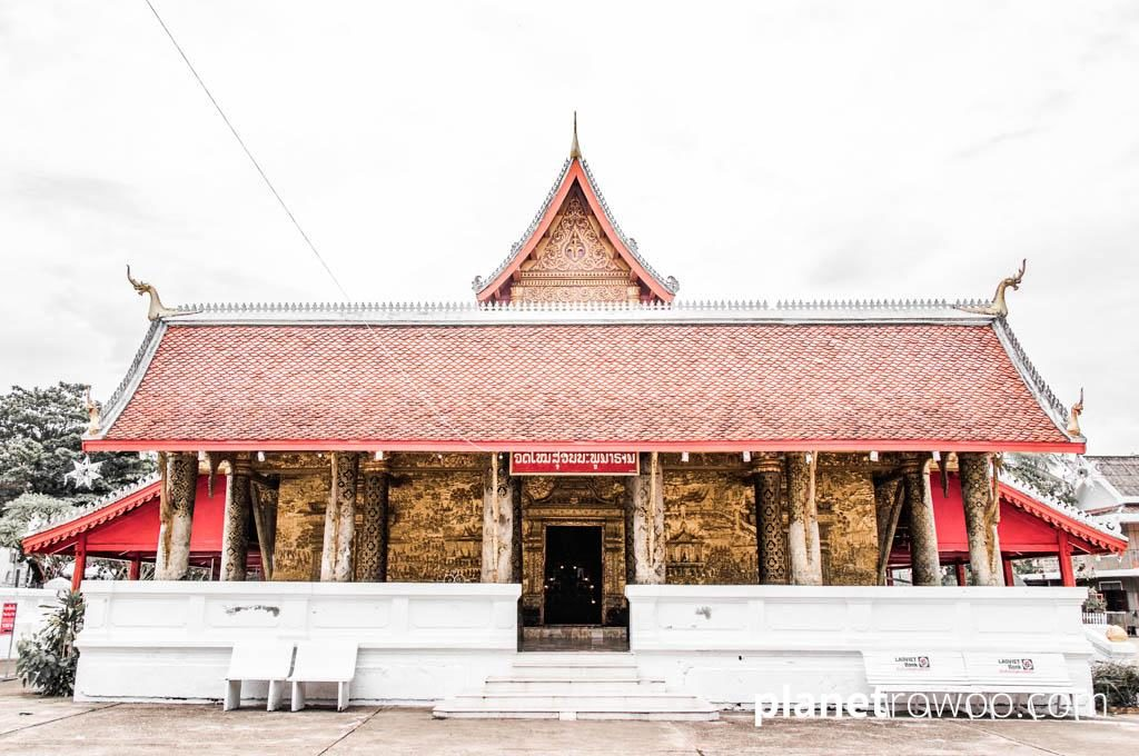 Wat Mai, the largest and most richly decorated temple in Luang Prabang