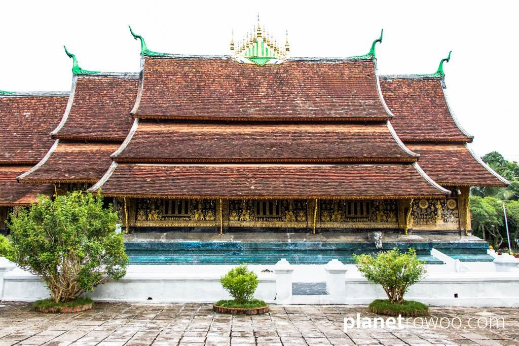 The impressive ordination hall (sim) at Wat Xieng Thong, Luang Prabang