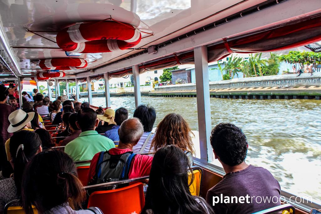 Chao Phraya River Boats are a cheap and convenient way to travel around Bangkok
