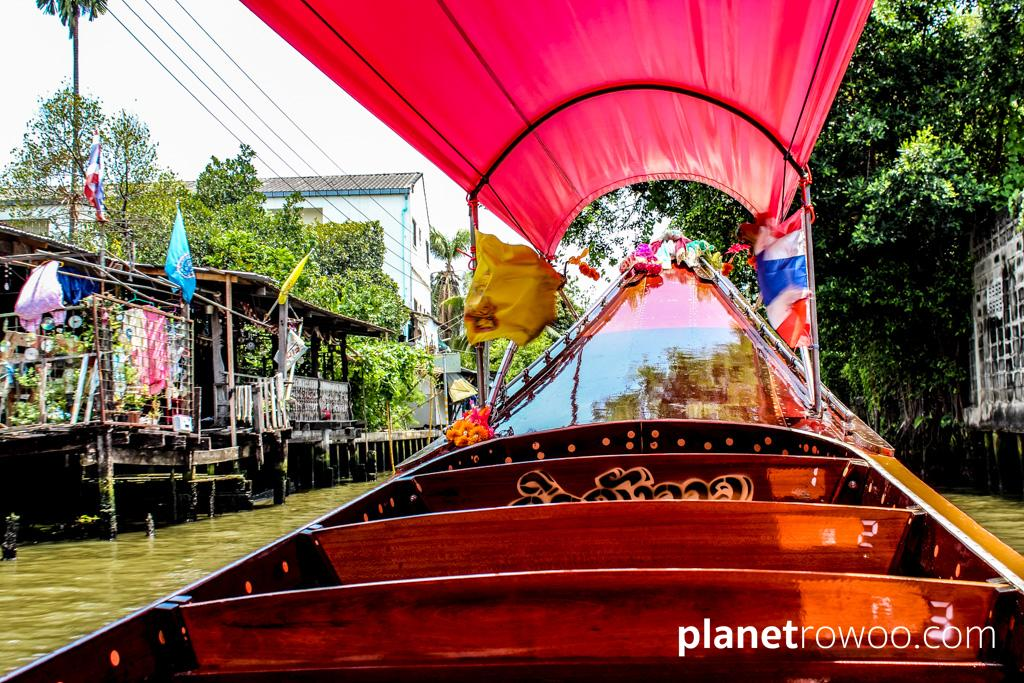 Explore the khlongs of Thonburi, Bangkok in a traditional long-tail boat