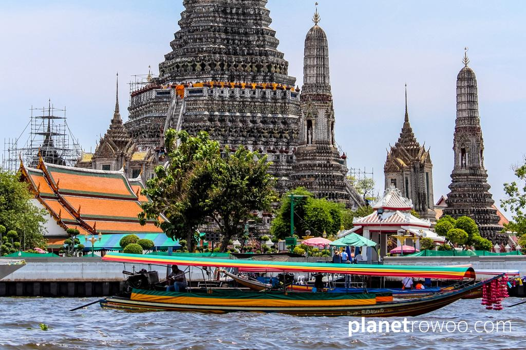 Viewing the sights of the capital from the Chao Phraya river gives you a different perspective of Bangkok