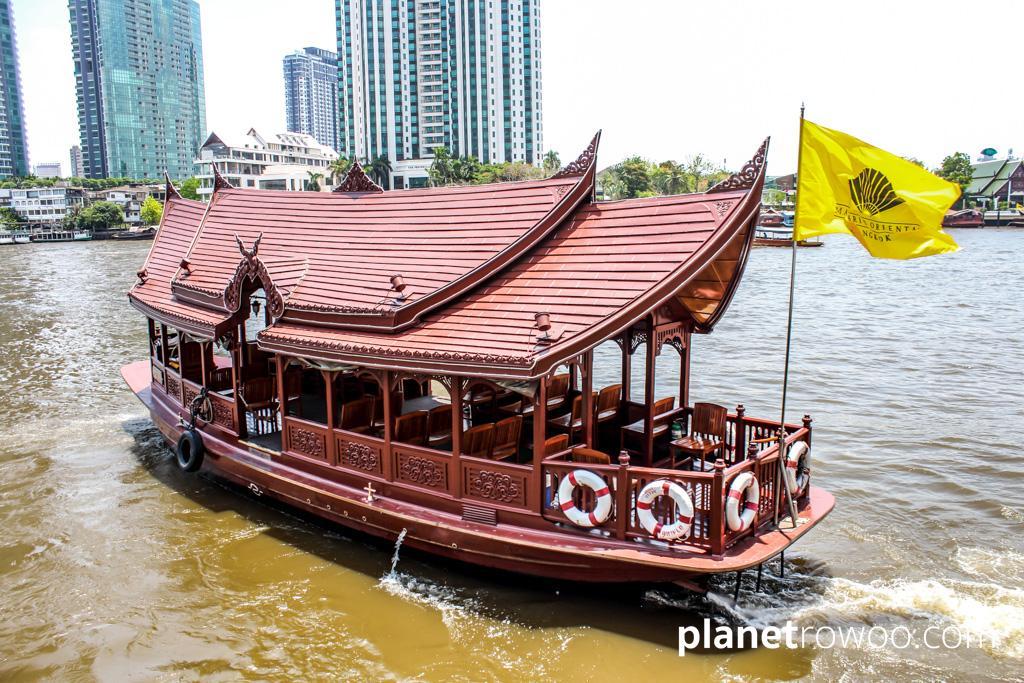 Hitch a ride across Bangkok's Chao Phraya river in a hotel's free shuttle boat