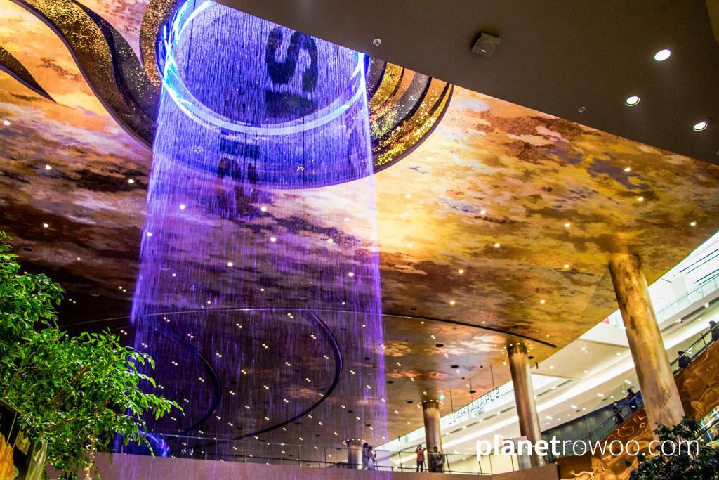 The impressive 15-metre high waterfall in the Alangkarn zone at ICONSIAM, Bangkok