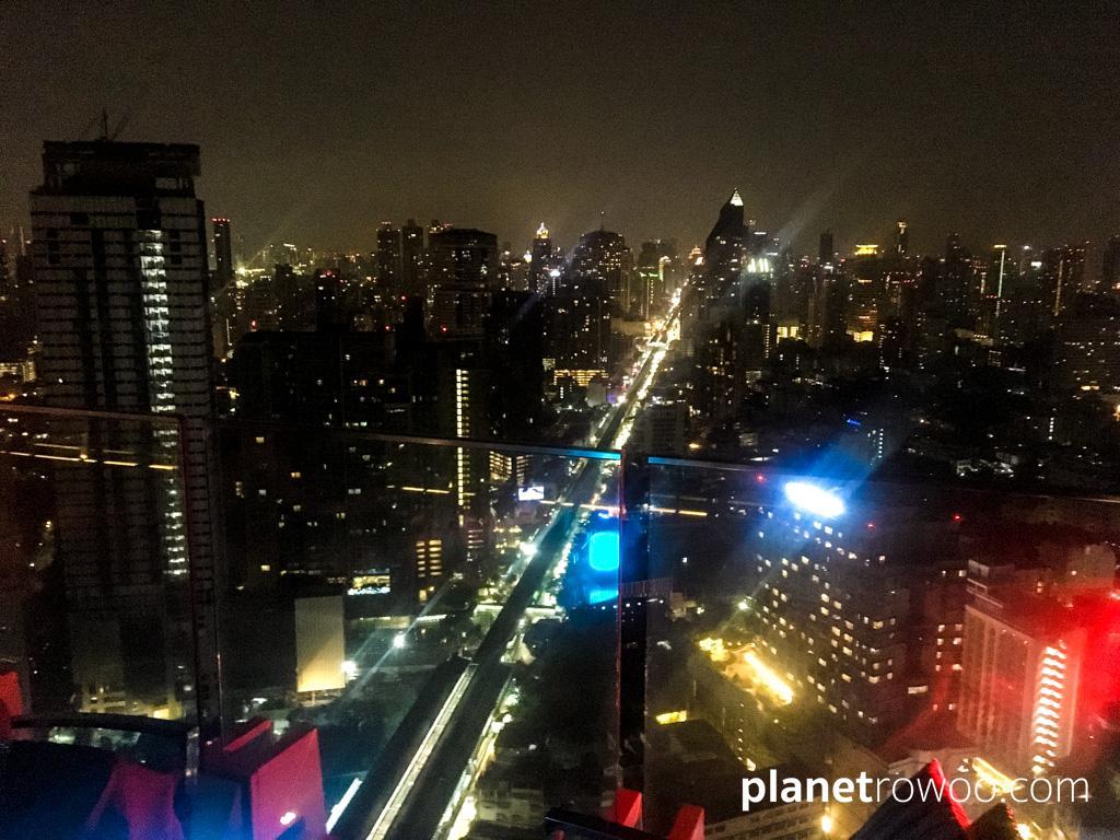 The Bangkok metropolis at night from Octave's panoramic 49th floor rooftop bar