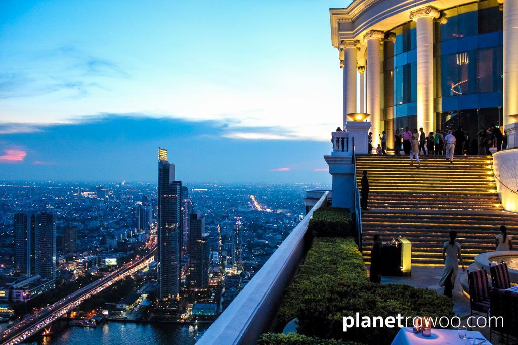 Sky Bar at Lebua, Bangkok, as the sun goes down