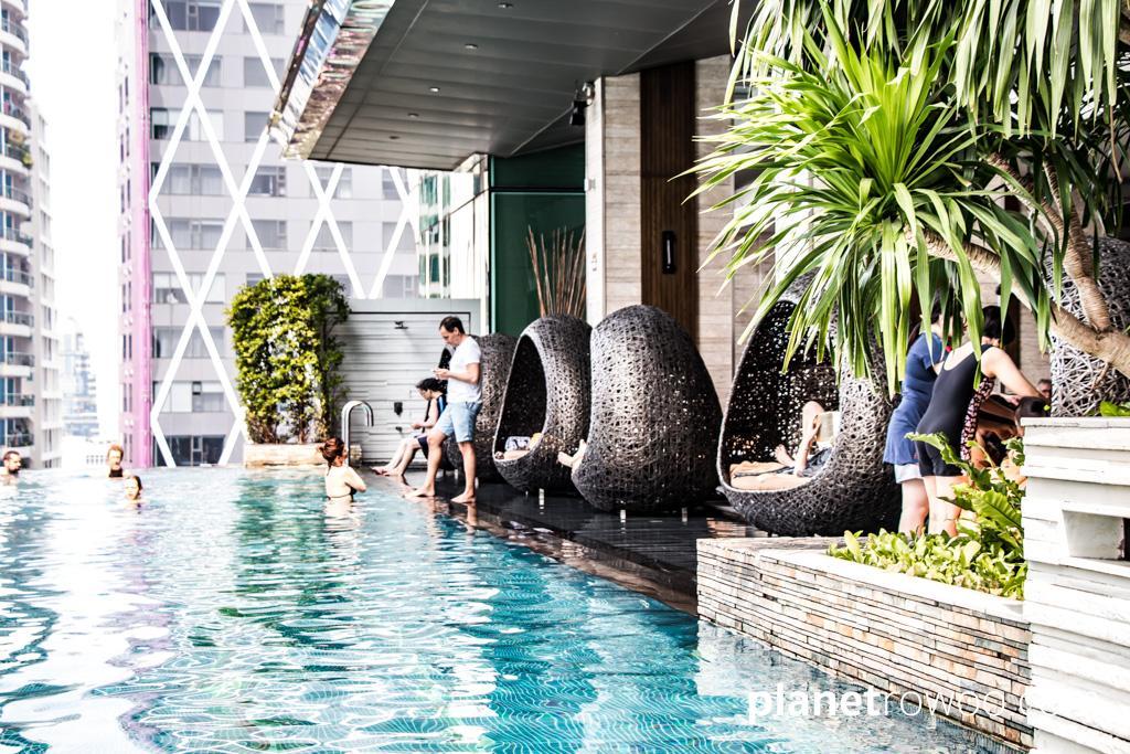 Infinity pool at the Eastin Grand Hotel Sathorn Bangkok