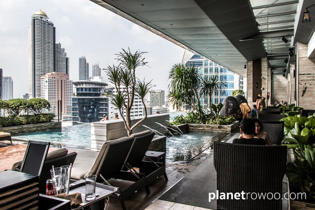 14th floor pool and restaurant area at the Eastin Grand Hotel Sathorn in Bangkok