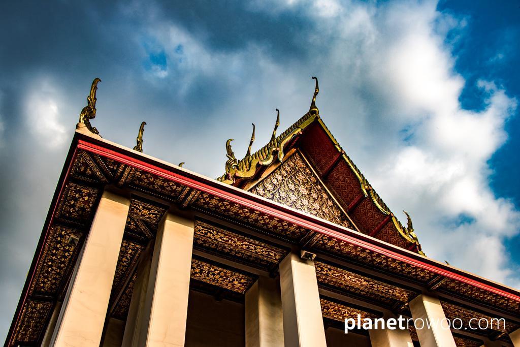 The Viharn of the Reclining Buddha at Wat Pho in Bangkok, Thailand